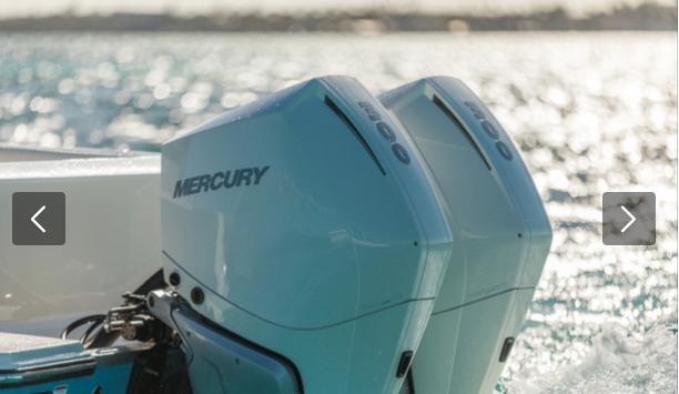 Coppia Mercury V8 300 cv bianco